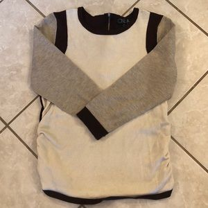 Long sleeve color block